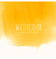 yellow watercolor texture abstract background vector image vector image