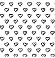 Abstract seamless heart pattern Black and white vector image