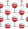 wine simple pattern vector image