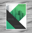 abstract green business brochure flyer with vector image vector image