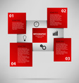 Abstract info graphic with red squares vector image vector image