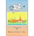 attraction landmarks in thailand website template vector image vector image