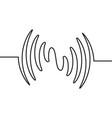 audio sound wave music waveform pulse vector image vector image