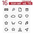 black universal icons set vector image vector image