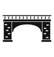 brick bridge icon simple style vector image vector image