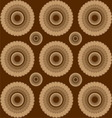 brown circles vector image
