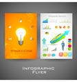 Business infographic flyer for presentation vector image vector image