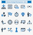 Business Strategy Planning Icons - Set 2 vector image