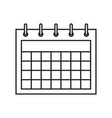 calendar icon in flat style on wall vector image