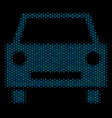 car composition icon of halftone circles vector image