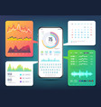 cell phone application interface design vector image