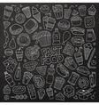 chalkboard hand drawn doodle cartoon set vector image