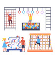 children playing at playground boys climbing at vector image vector image