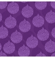 Christmas Bauble seamless pattern vector image vector image