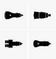 cigarette lighter plug vector image vector image
