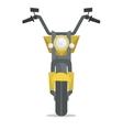 Classic retro motorcycle vector image vector image
