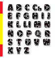 cute funny childish spanish alphabet font vector image vector image