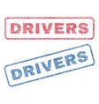 drivers textile stamps vector image vector image
