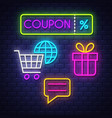e-commerce neon signs collection vector image
