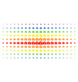 Euro checkbook spectral halftone grid vector image