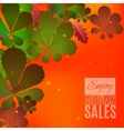 Fall sale design Enjoy autumn sales banner vector image vector image