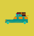 flat shading style icon car gifts vector image vector image