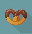 german pretzel icon flat style vector image