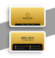 golden business card in minimal elegant style vector image vector image
