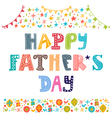 Happy Fathers day Best dad postcard vector image vector image