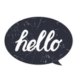 Hello hand draw lettering calligraphy on black vector image vector image