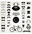 Hipster Retro Vintage Icon Set vector image vector image