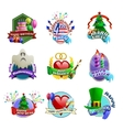 holydays celebrations emblems collection vector image