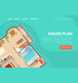 house plan landing page template professional vector image