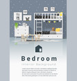 interior background modern kids bedroom vector image