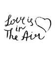 love is in the air inspirational quote hand vector image vector image