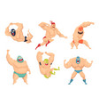 lucha libre characters mexican wrestler fighters vector image vector image