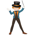 Magician in blue suit vector image vector image