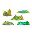 malaysia linear landmarks travel and nature icons vector image vector image