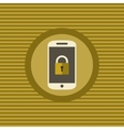 Mobile security flat icon vector image