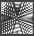 monochrome halftone background vector image vector image