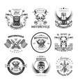 motorcycle or bikers club logo templates vector image