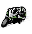 motorcycle race cornering vector image vector image