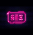 neon sign adults only 18 plus sex and xxx vector image vector image