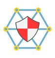 network protection flat icon seo and development vector image vector image