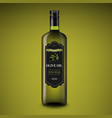 olive oils bottle dark green background vector image vector image