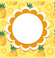 pineapple label wrapper template for your design vector image