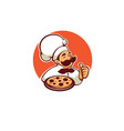 pizza maker chef icon label logo vector image vector image