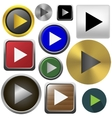 Play button set vector image