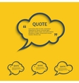 Quote line cloud speech bubbles set vector image