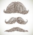 Retro mustache set vector image vector image